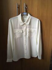 Ladies cream tunic top size 14