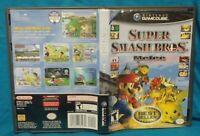 Super Smash Bros. Melee Nintendo GameCube NGC Case + Cover Art ONLY!  - NO GAME