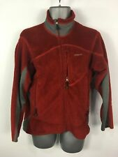 MENS PATAGONIA RED GREY TOWELING FULL ZIP UP JACKET JUMPER FLEECE SIZE S SMALL
