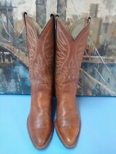Mens Cowboy Boots 9 D Texas Brand Style 7911, Brown