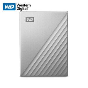 WD 1TB 2TB 4TB 5TB My Passport Ultra External Portable Drive USB-C USB3.1 Silver