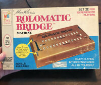 Milton Bradley Vintage Rolomatic Bridge Machine Set II 1969 - Complete