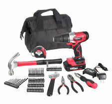 70 Piece Tool Set With Bag 20 Volt Cordless Hand Drill Household Repair Tool Kit