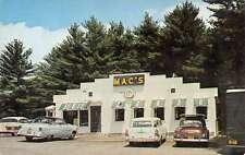 Mechanic Falls Maine Macs Restaurant Street View Vintage Postcard K52474