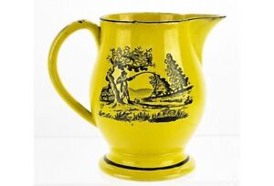 Antique French Canary Ware Creamer 19thC