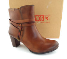 New PIKOLINOS Size 7.5 VERONA Cognac Brown Ankle Boots 38 Eur