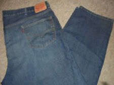 MENS LEVI'S 550 RELAXED FIT STRAIGHT LEG BLUE JEANS SIZE 52 X 32