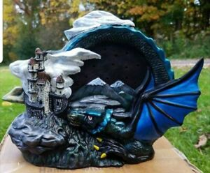 Dragon In Clouds Light Up w/ Bulb & Cord Ready to Paint Unpainted Ceramic Bisque