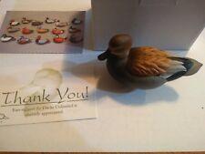 Nib 2013 Jett Brunett Ducks Unlimited Miniature Gadwall Decoy