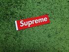 Supreme S/S 2017 Felt Sticker Box Logo Classic Red White Tab