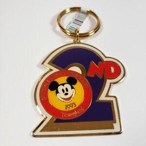 Disney Disneyland Disneyana Convention 2nd 1993 Mickey Mouse KeyChain Ring