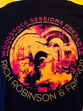 """RICH ROBINSON  """"RARE"""" Magpie Salute Woodstock August 2016 Shirt ( Black Crowes )"""