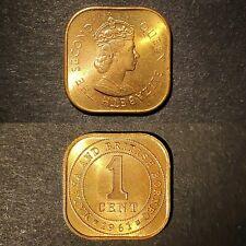 Malaya 1961, 1 Cent Queen Elizabeth II