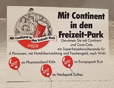 Gewinnspielkarte Continent, Coca-Cola von 1993. Mit Gewinnspiel für Europa-Park
