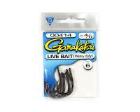 7 Per pack 5437 Gamakatsu Live Bait Heavy Duty Size 2//0