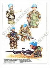 PLANCHE UNIFORMS PRINT Casques bleus United Nations peacekeeping ONU UN Forces