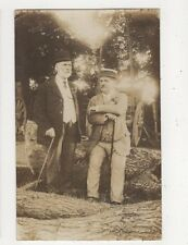 Two Men With Fallen Trees 1900s/10s RP Postcard 617a