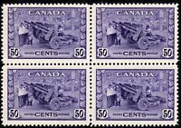 Canada War Issue - Munitions Factory - Scott 261 - Block of 4 - MNH F/VF