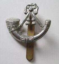 The Light Infantry  White Metal Cap Badge