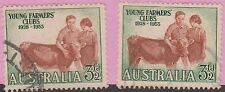 (XR68)1953AU3½d youngFarmers misprinted lowto leftStamp