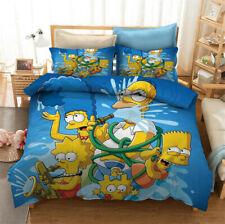 The Simpsons 3D Bedding Set 3PC Duvet Cover Pillowcase Quilt Cover Gift for Fans