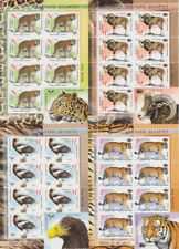 Weißrußland 959 - 62 Sheetlet Set Tiger Leopard Eagle Etc (MNH)
