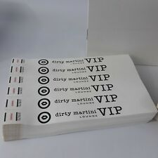 """1"""" Tyvek Paper Wristbands-  Dirty Martini Lounge - VIP - 3000 Wristbands"""