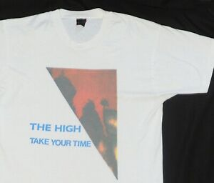 Vintage 1990 The High TAKE YOUR TIME t shirt LARGE Stone Roses Charlatans James