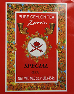 Zarrin Pure Ceylon Tea, Orange Pekoe A, 1LB 454g