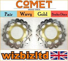Pair of Front Gold Wavy Brake Discs Yamaha YZF-R1 1998-01 W925GD