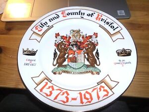 "Bristol Collectable 11"" Dia -  Commemoration Plate 1373-1973 - VG+"