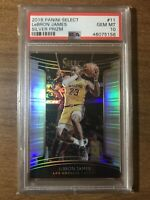 2018-19 Select Lebron James Concourse Silver  Holo Prizm GEM MINT PSA 10 INVEST