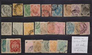 ! Bosnia  1879-1907. Lot Of 27  Stamp. YT#. €+100.00!