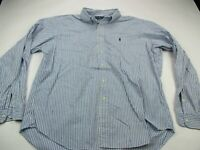 Polo Ralph Lauren Mens Shirt Stripes Size Long Sleeve XL Blue Button Down