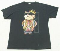 Large FOTL Big Paw Paw Black Short Sleeve Crewneck Cotton Tee T-Shirt Top J39