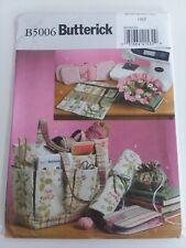 Butterick pattern B5006 Sewing & Knitting Tote, Accessories uncut.