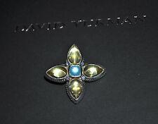 DAVID YURMAN Gemstone Quatrefoil Teardrop Enhancer Pendant Sterling Silver