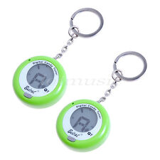 2*Belcat Q-7 Digital Candy Chromatic Key Chain Guitar Instrument Tuner GREEN