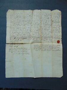 Ca.1738 COLONIAL NORWICH CONNECTICUT MANUSCRIPT DEED