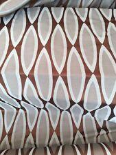 10 MTS Jacquard Rideau Tissu Tapisserie Duck Egg Chocolat Rétro Eames Era Style