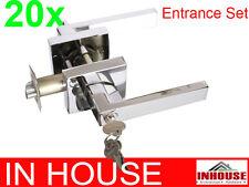 Builders!wholesalers!resell!bulk 20xDoor handles-Entrance set-Chromefinish(6502)