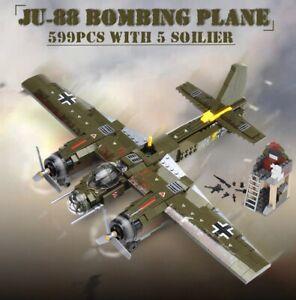 Bomber Plane Building Blocks War Jet Action Figure Building Bricks 559 Pcs/Set