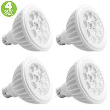 4-Pack PAR30 LED 15W 6500K Cool White Indoor/Outdoor Flood Light Bulbs 100 Watt