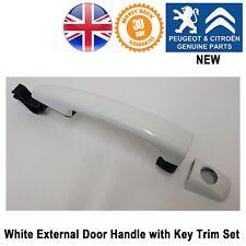 Peugeot Partner Tepee B9 Door Handle External White Key Hole 9101GF Genuine New