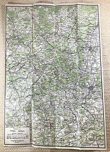 1917 German WW1 Map of France Germany Colmar Belfort Original Military War