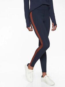 NWT Athleta Track Tux Tight, Navy SIZE L                   #350988 N0119