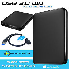 "HARD DRIVE CADDY 2.5"" SATA CASE HDD ENCLOSURE EXTERNAL USB 3.0 FOR PC LAPTOP"