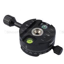 UK! CameraPlus® QJ-64II Full Metal 360 Degrees Panorama Quick Release Plate head