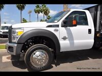 "For FORD F450 F550 19.5"" 05-16 10 LUG Stainless Dually Wheel Simulators BOLT ON"