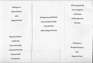 PK OF 10 CHRISTMAS CARD INSERTS, PRE-CUT, 100GSM, A6, A5, 6X6, 5X5, 7X5